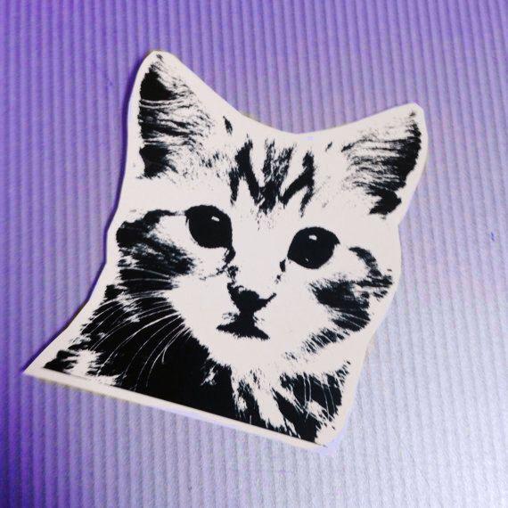 Le chouchou de ma boutique https://www.etsy.com/ca-fr/listing/460505524/stickers-autocollant-cat-face