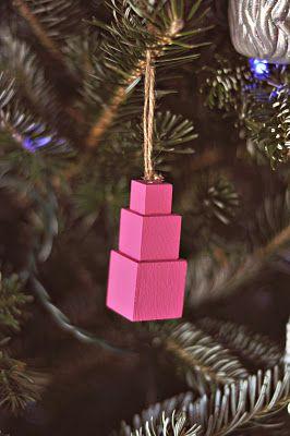 DIY Montessori Pink Tower ornament