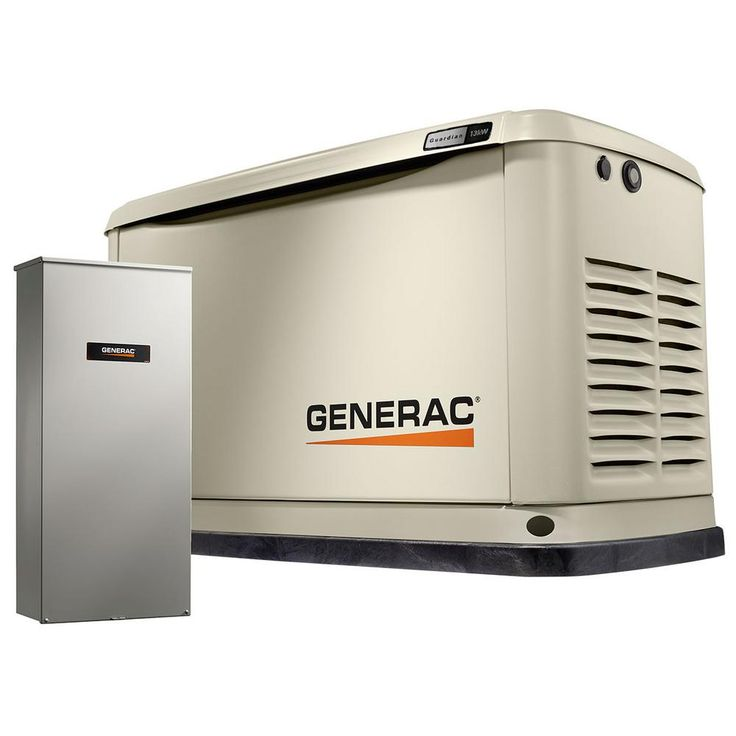 Generac Guardian 13000 Watt Air Cooled Home Standby Generator With Wi Fi And 16 Circuit Transfer Switc In 2020 Home Backup Generator Standby Generators Transfer Switch