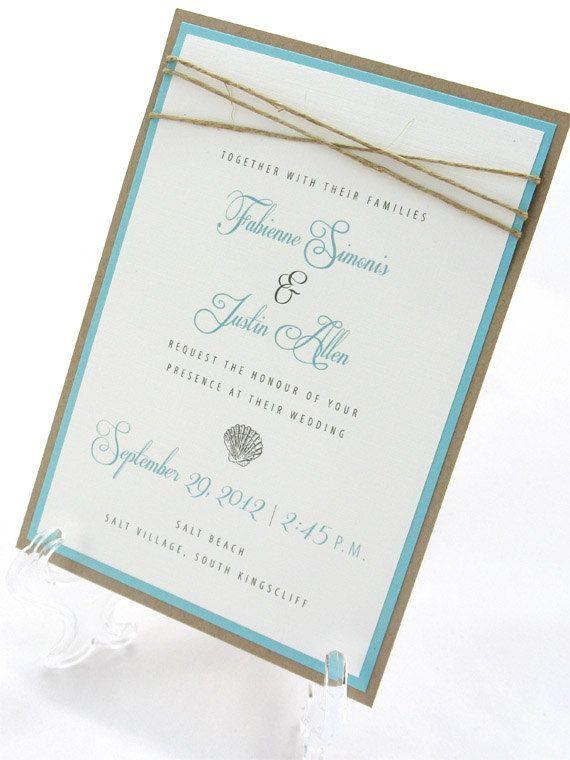 @Debbie Sterne LOVE!!!   Beach Wedding Invitation  Seashells & by JacquelineAnnInvites Really cute