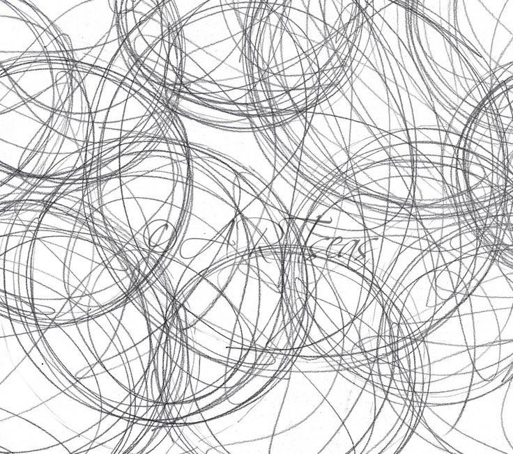 """Design Collaboration With KERENVEMICHAL-Abstract Pencil Drawing Minimalist Circle Abstract Circle Archival Art Print """"Graphite Swirls"""""""