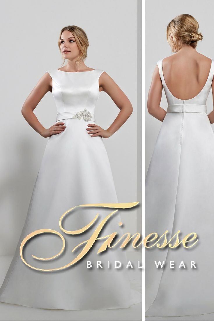 Romantic A Line Wedding Dress for that perfect elegant wedding from Finesse Bridal Wear in Listowel, Co Kerry #ALineDress