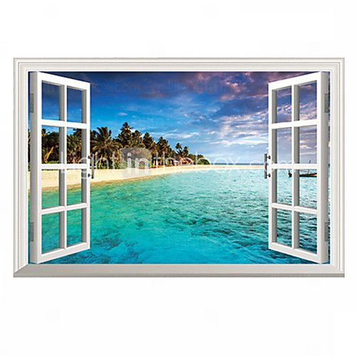 3D Mediterranean Sea Landscape Seabeach 3D Wall Stickers Fashion Bathroom Living Room Wall Decals - CAD $8.33 ! HOT Product! A hot product at an incredible low price is now on sale! Come check it out along with other items like this. Get great discounts, earn Rewards and much more each time you shop with us!