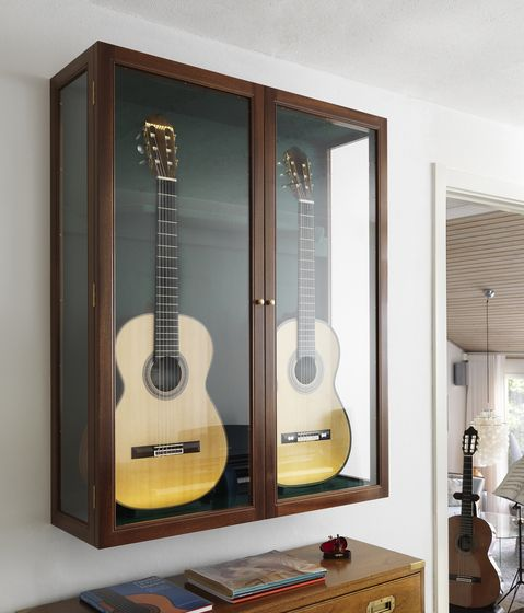 guitar wall mounted cabinet
