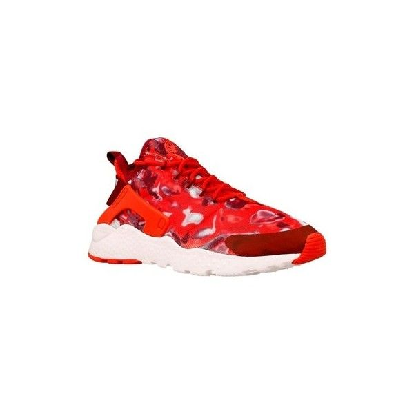 Nike W Air Huarache Run Ultra Shoes (Trainers) ($215) ❤ liked on Polyvore featuring shoes, sneakers, red, trainers, women, nike trainers, red trainers, nike, nike sneakers and red shoes