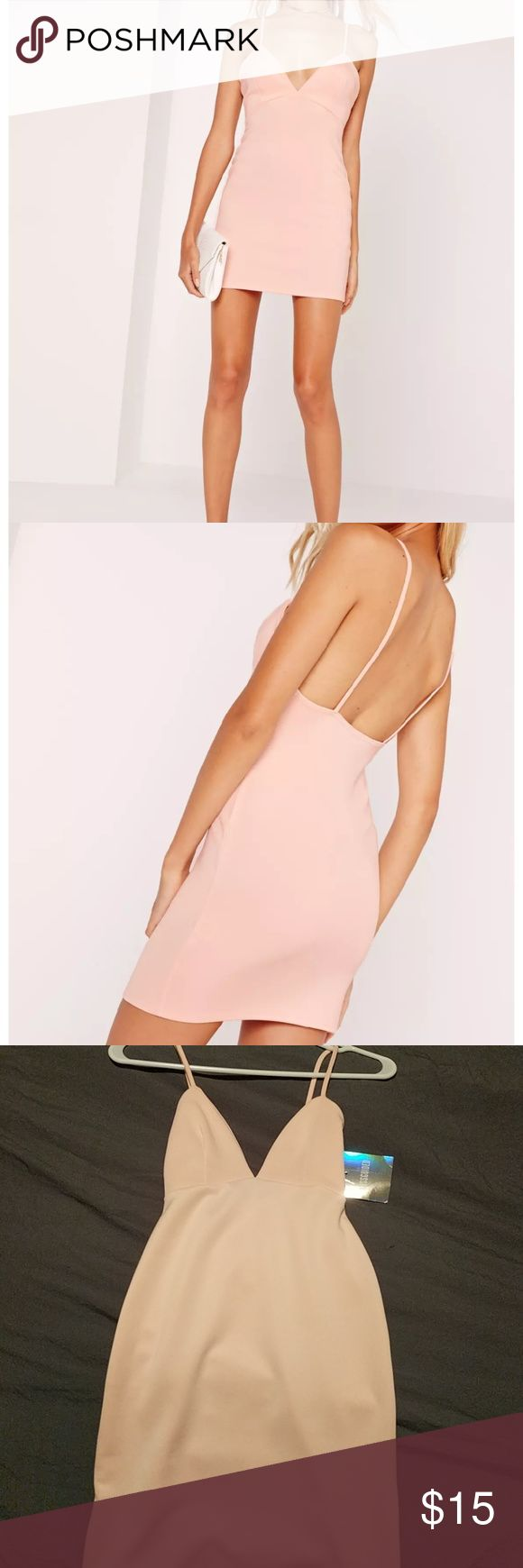 Bodycon dress Missguided strappy body con dress. Never worn. Missguided Dresses
