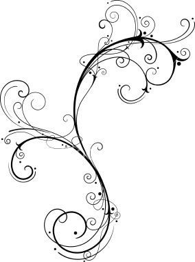 "Vine tattoo Flourish Scrolls....THIS just may be The One!!! On my fore arm down to my wrist with "" BEAUTIFUL "" incorporated in it!"