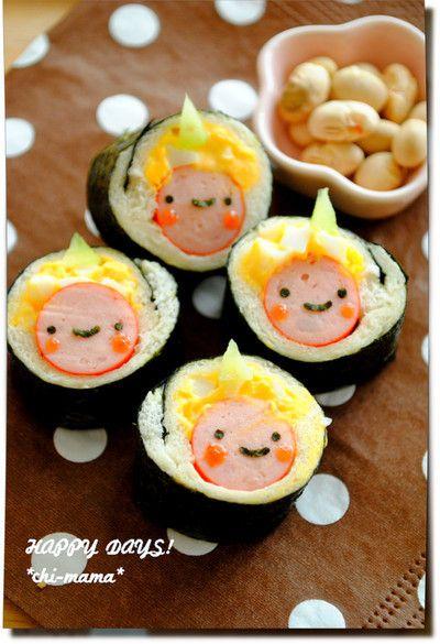 節分★海苔巻きパンで鬼さん♪(キャラ弁、デコ弁) の画像|HAPPY DAYS!