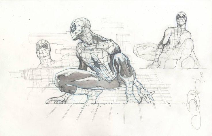 Spiderman sketch by Simone Bianchi