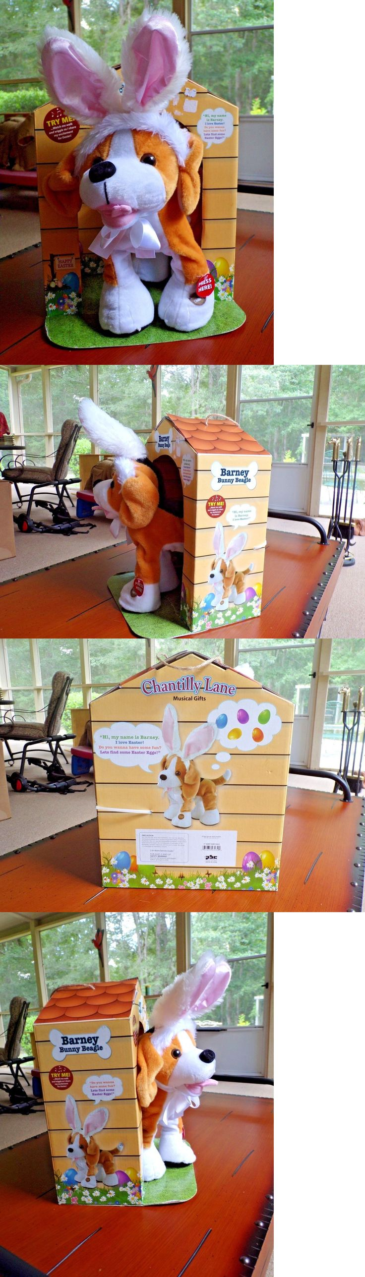Talking Toys 145945: Chantilly Lane Musical Talking Walking Barney The Bunny Beagle Plush Dog W House -> BUY IT NOW ONLY: $34.99 on eBay!