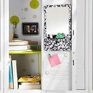 A must for middle school: a locker shelf. It should be of adjustable width; this one is on sale now at Pottery Barn Teen for $12