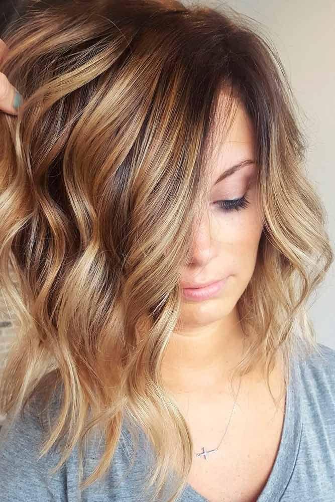 Light Brown Hair with Highlights #WomenHairColorSummer