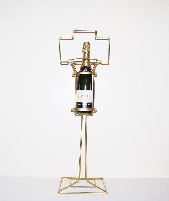 Vintage Wine Floor Stand Industrial / Mod by CheekyVintageCloset, $44.00