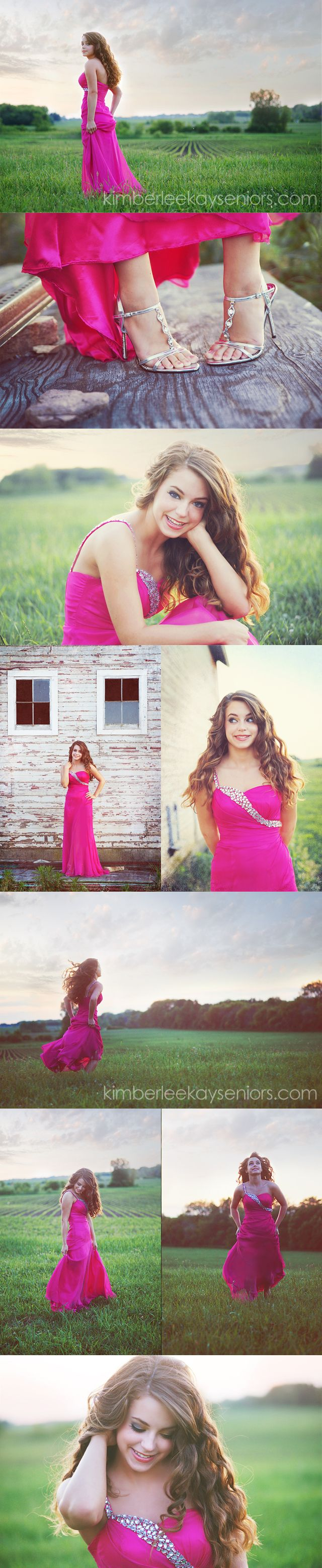 be a princess, wear your prom dress again! Cute senior option.
