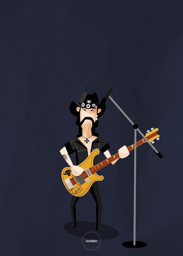 ivodelo.com - graphic design / illustration Lemmy Kilmister - Motörhead