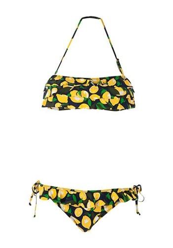 25 most flattering bikinis - New Look Lemon Print
