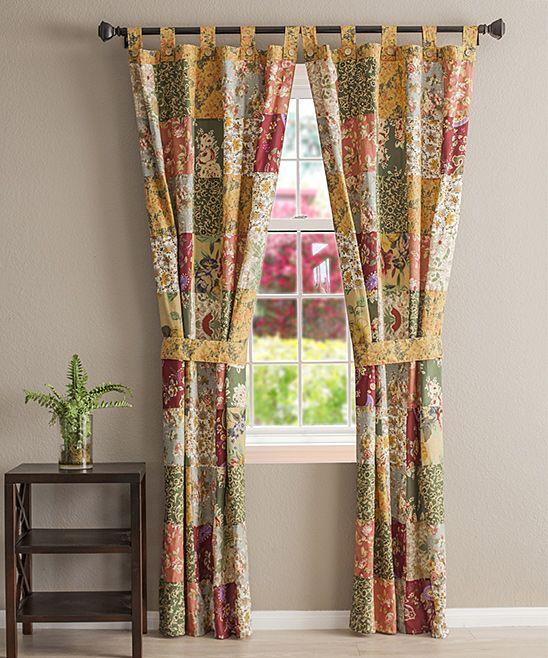 Alberta Cabin Four-Piece Curtain Panel Set