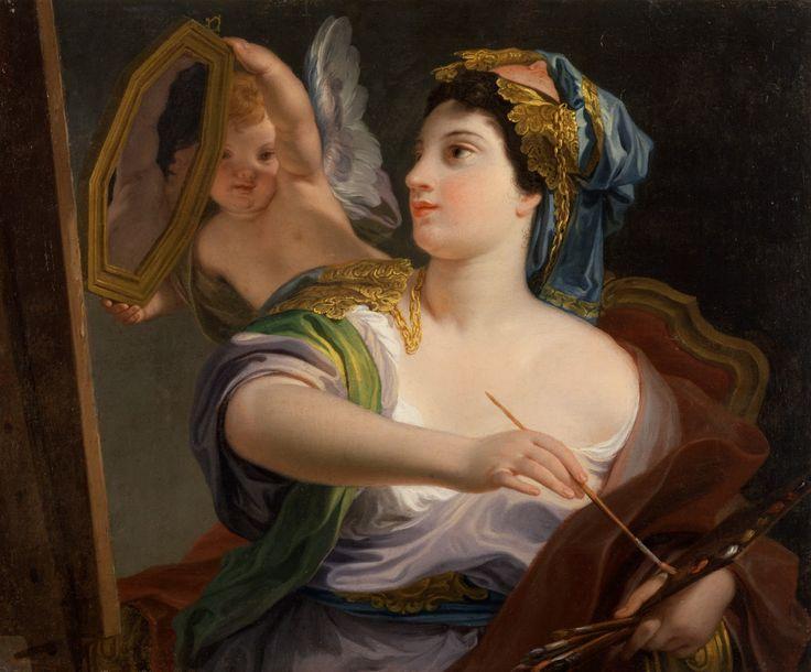 Domenico Corvi - Allegory of Painting [1764]  #18th #Classic #Domenico #Corvi #Painting