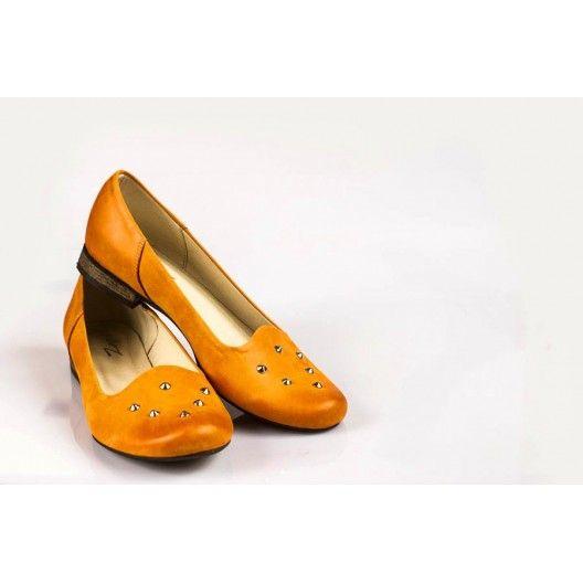 Női bőr balerina sütőtök DT029 - manozo.hu