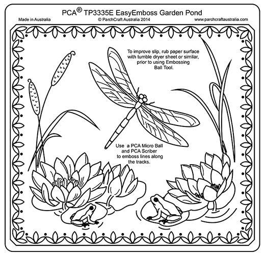pca embossing parchment templates tp3326e tp3350e parchment work