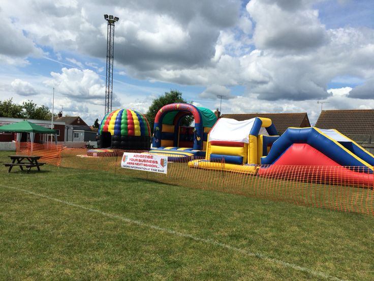 Our pitch at Brightlingsea regent fc party on the pitch raising money for the club in Essex