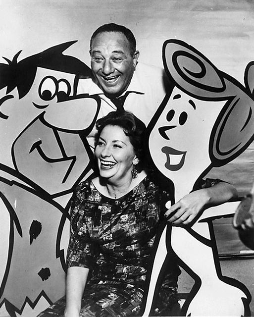Alan Reed and Jean Vander, the original voices of Fred and Wilma Flintstone. °