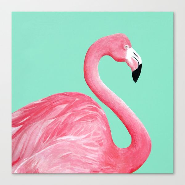 Pink Flamingo Stretched Canvas by Lorri Leigh Art | Society6