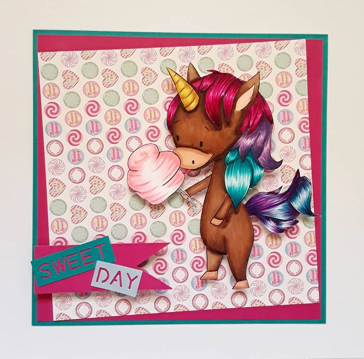 Sweet day ! in 2020 | Unicorn card, Cards handmade ...
