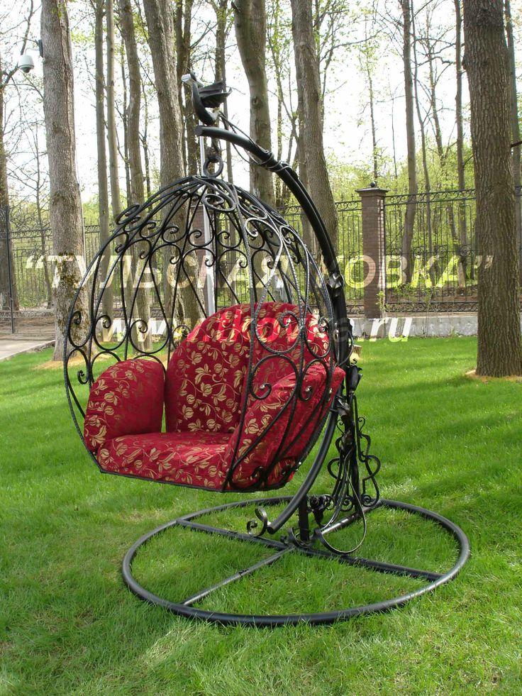 Кованое кресло качалка. Wrought rocking chair