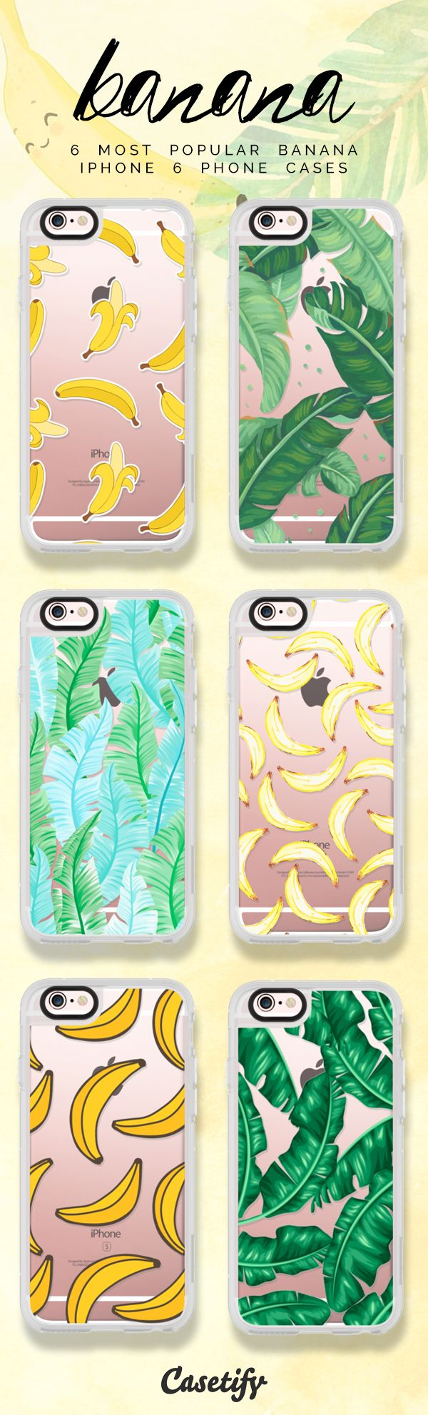 Top 6 bananas iPhone 6 protective phone case designs | Click through to see more iPhone phone case designs >>> https://www.casetify.com/artworks/Ubj1xA1Tgi #food | @casetify
