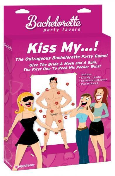 Bachelorette Kiss My...Party Game
