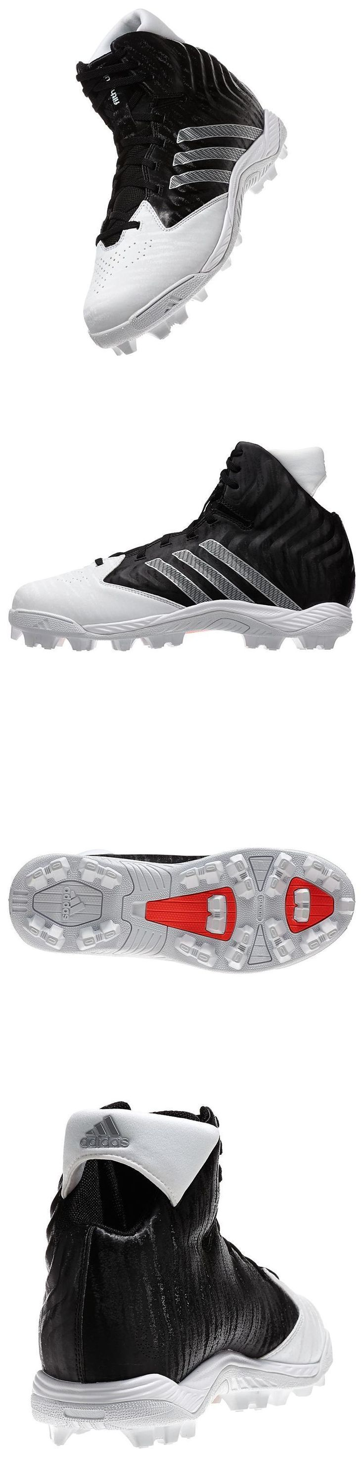 Youth 159118: Adidas Filthyquick Md Wide New Youth Size 4Y J Football Cleats Black And White BUY IT NOW ONLY: $30.0