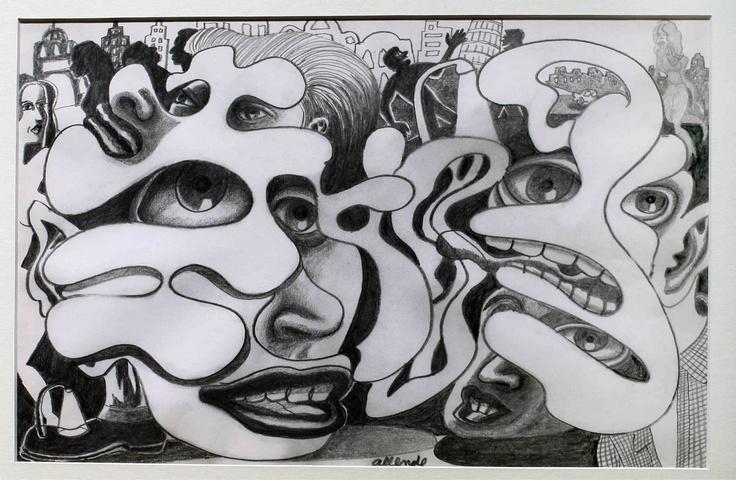 "Fernando Allende Bellido, ""Historia de Amor 12"", Lápiz grafito."