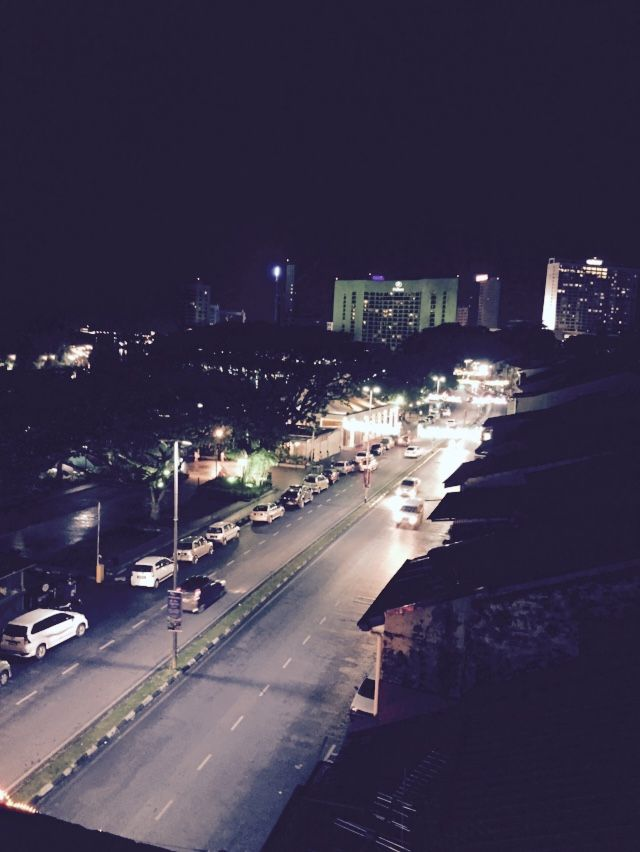 View from top floor of The Ranee Boutique Hotel, Kuching