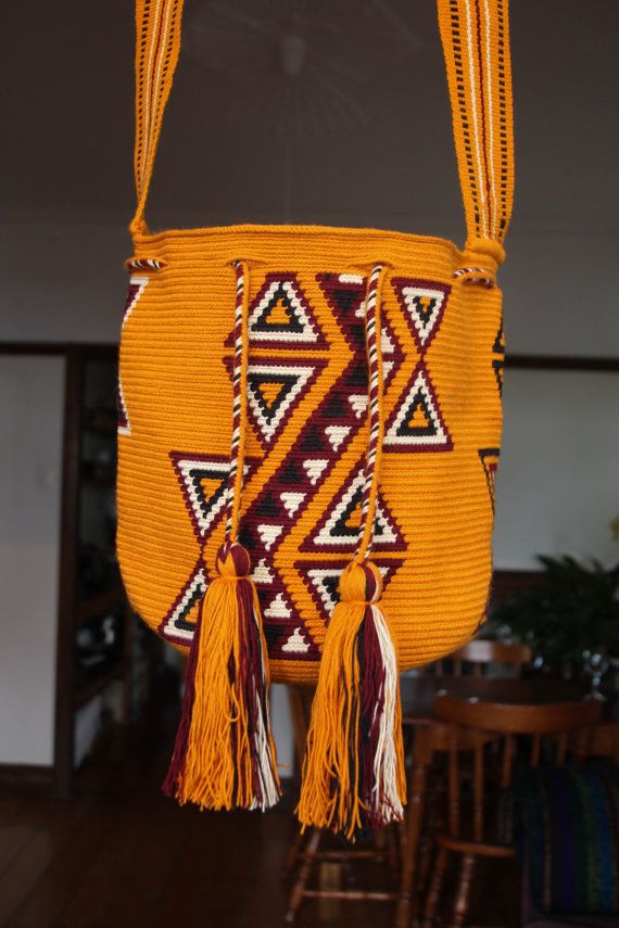 Wayuu Tribal Mochila Boho Bucket Bag