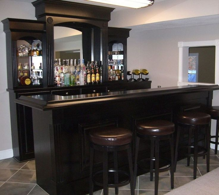 Black Home Bar With Elegant Look Entertaining Your Life Ideas Accessorieshome Designshome Furniturehome Ideashome