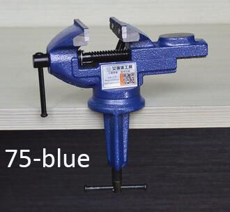 1PCS Model 75-BLUE carbon steel Bench Table Swivel Lock Clamp Vice Craft Jewelry woodworking Hobby Vise