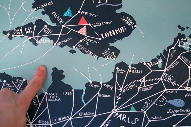 Cinta Arribas - illustrative map