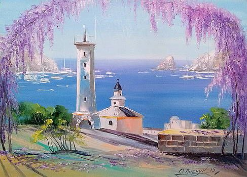 Lighthouse By Olha Darchuk Oil Painting On Canvas Painting Canvas Painting