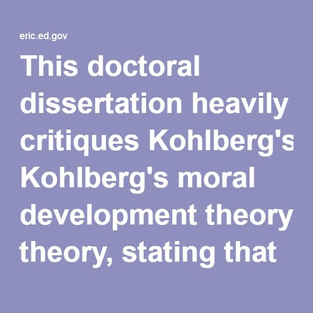 the importance of instilling moral reasoning in children using kohlbergs theory Moral reasoning prosocial behavior  the relation between children's morality and aggression, theory of  development account of moral development kohlberg .