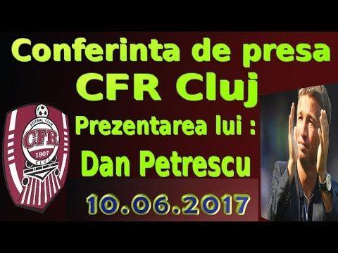 Conferinta de presa CFR Cluj : Prezentarea oficiala a lui Dan Petrescu c...
