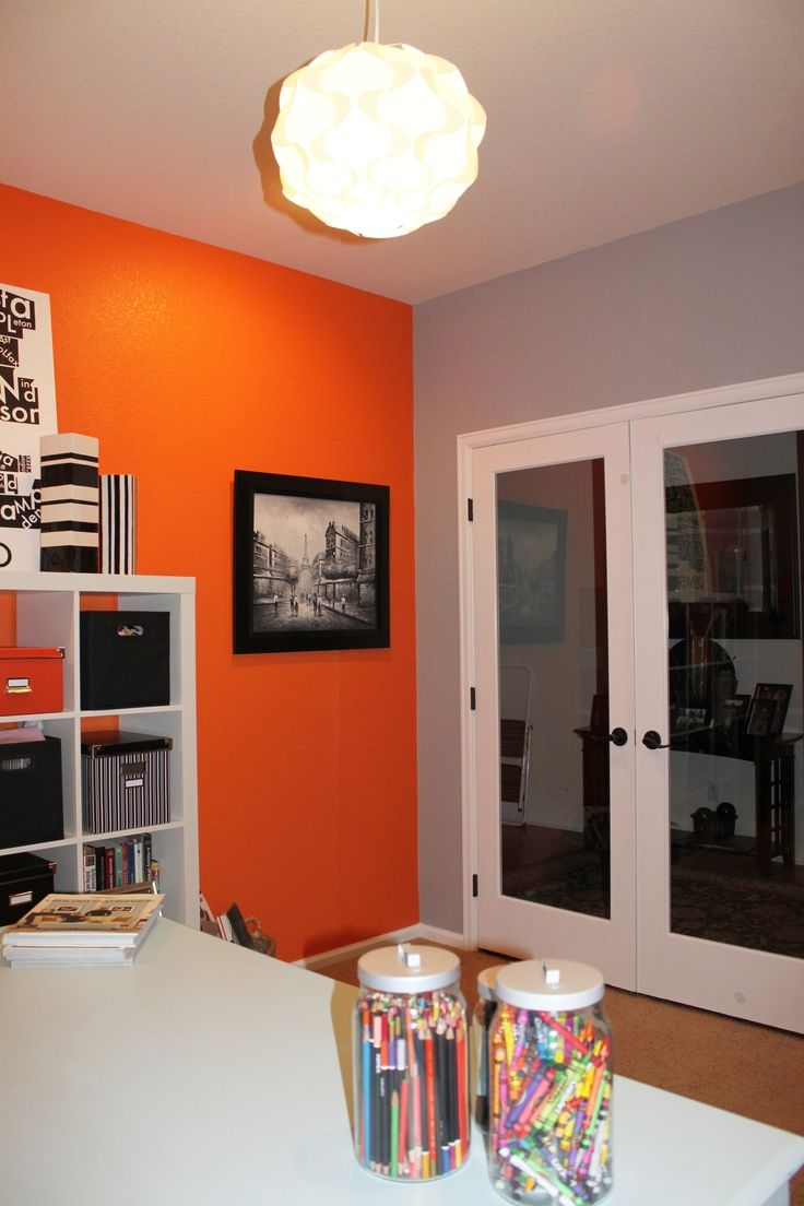 Orange Gray and Paint Combos | about Orange Office on Pinterest | Orange modern bathrooms, Orange ...