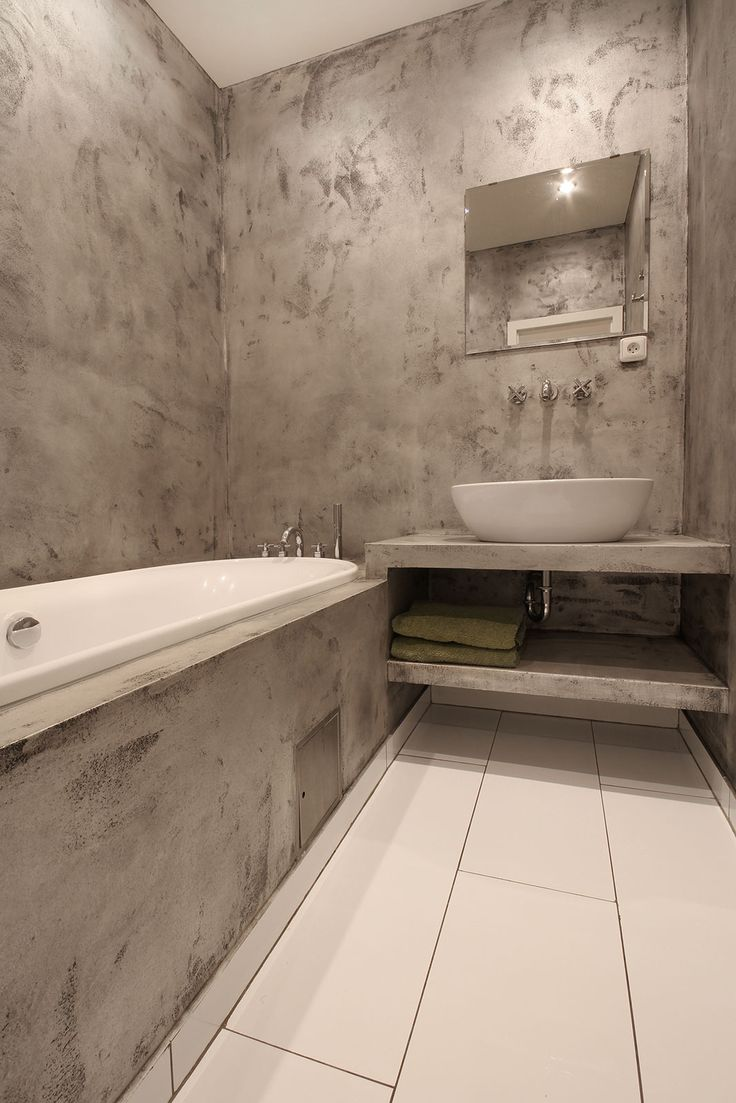 Water resistant plaster Betonepox is the best way to combine modern design and durability in your bathroom.