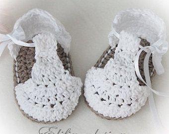 MOTIF de CROCHET crochet bébé chaussons no34 par elifinedesigns
