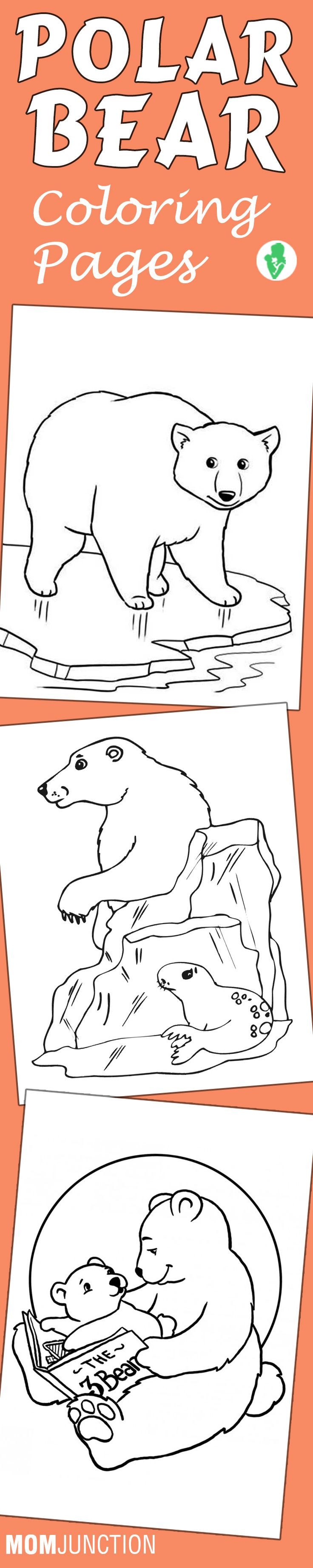 10 Cute Polar Bear Coloring Pages For Your Little Ones: These coloring pages will introduce your kid to the polar bear in its natural habitat. Also, make things interesting by providing snippets of information about bears to engage your child's imagination.