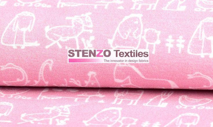 Stenzo17 3700-12 Tricot dieren roze