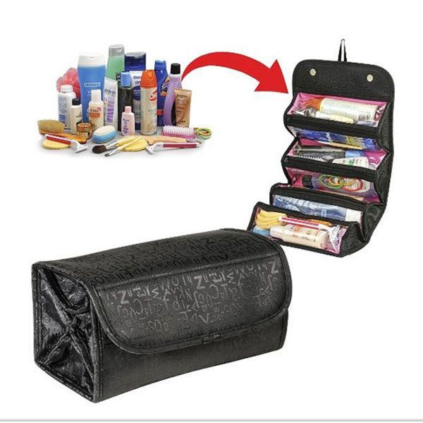 Travel beautician  Toilet bag made of very lightweight and durable nylon. It has many pockets for cosmetics of all sizes. The foldable design makes the beautician extremely compact and at the same time takes up little space in your luggage. Ideal for business trips, weekends or long vacations. https://www.cosmopolitus.com/beauty-travel-p-222276.html?language=en&pID=222276 #Beautician #folding #travel #vacation #airplane #lightweight #suitcase #trip #business #weekend #jewelryorganizerstravel