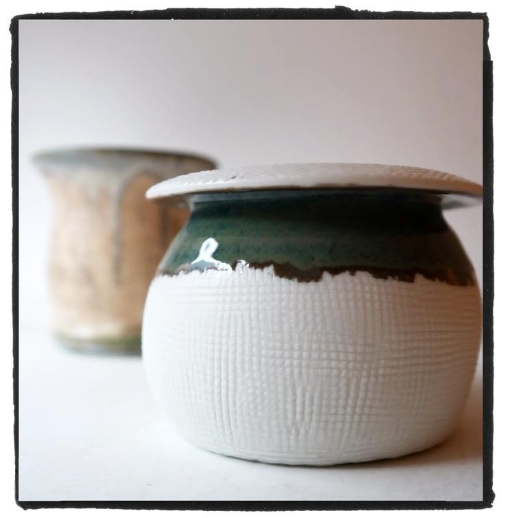 porcelain vase with green spout