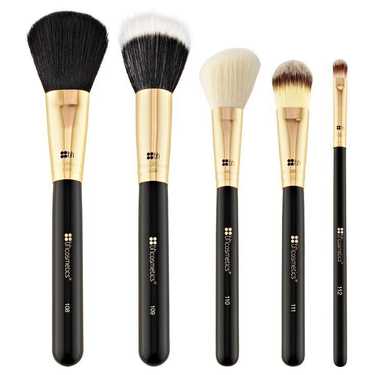 BH Cosmetics Face Essential Cosmetic Brush Set 5 ct
