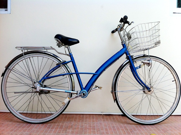 """""""Blue"""" My second hand bicycle from Japan."""